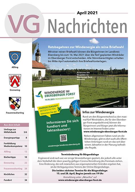Titelseite VG-Nachrichten April 2021